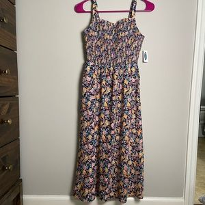 NWT Old Navy Floral Smocked Tank Dress XS